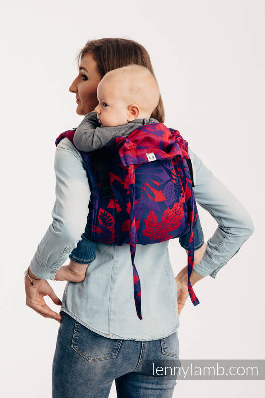 Lenny Buckle Onbuhimo baby carrier, standard size, jacquard weave (100% cotton) - WHIFF OF AUTUMN - EQUINOX #babywearing