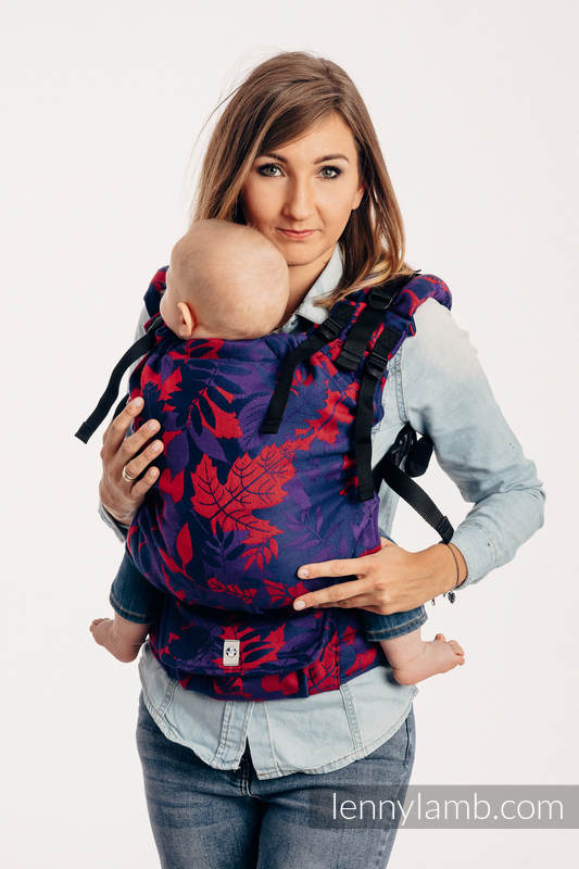 LennyUp Carrier, Standard Size, jacquard weave 100% cotton - WHIFF OF AUTUMN - EQUINOX #babywearing