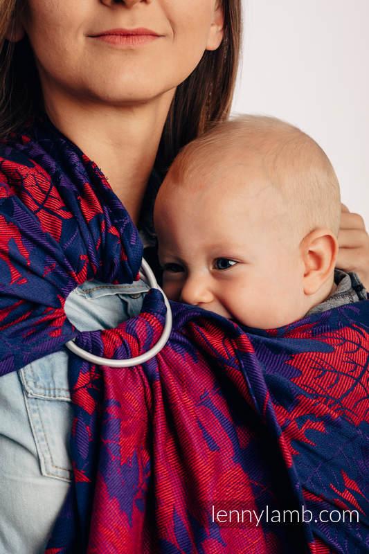 RingSling, Jacquardwebung (100% Baumwolle), Raffung an den Ringen - WHIFF OF AUTUMN - EQUINOX - long 2.1m #babywearing