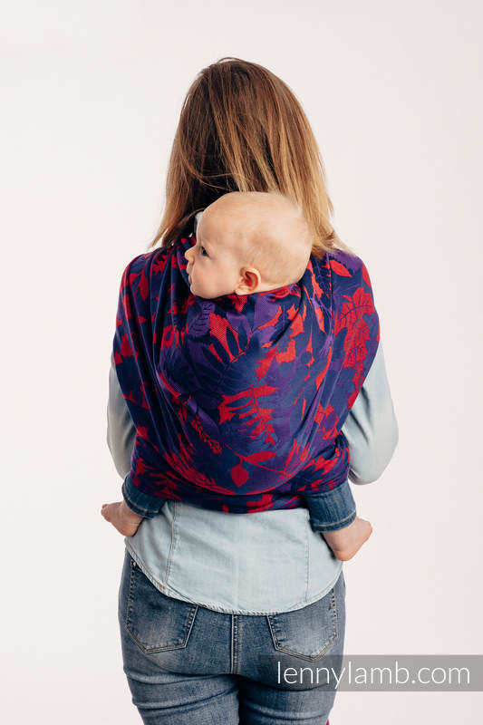Baby Wrap, Jacquard Weave (100% cotton) - WHIFF OF AUTUMN - EQUINOX - size XS #babywearing