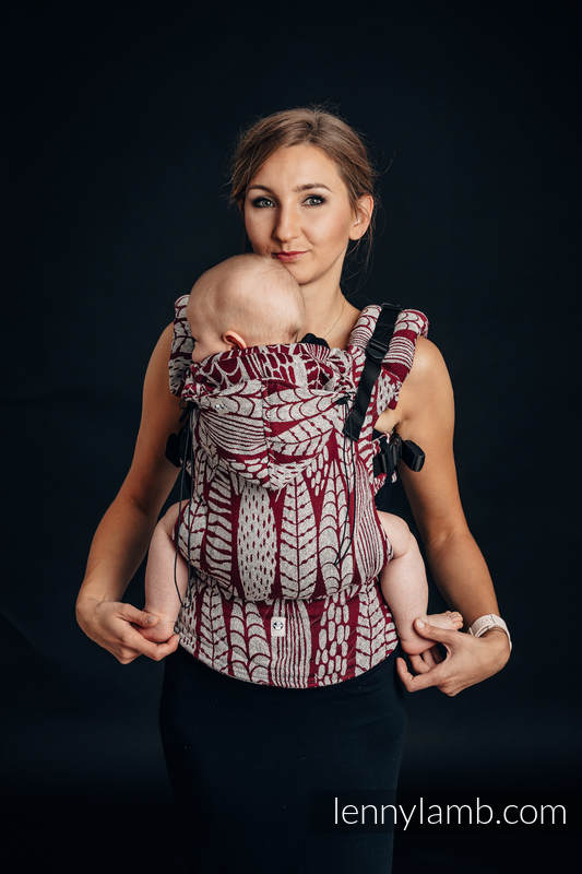 Ergonomic Carrier, Toddler Size, jacquard weave - 69% cotton, 31% silk - SKETCHES OF NATURE, Second Generation #babywearing
