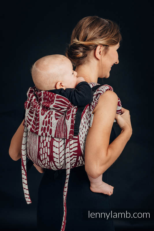 Lenny Buckle Onbuhimo baby carrier, standard size, jacquard weave -69% cotton, 31% silk - SKETCHES OF NATURE #babywearing