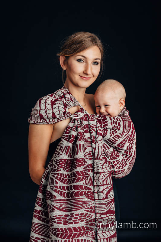 Ringsling, Jacquard Weave, with gathered shoulder - 69% cotton, 31% silk - SKETCHES OF NATURE #babywearing