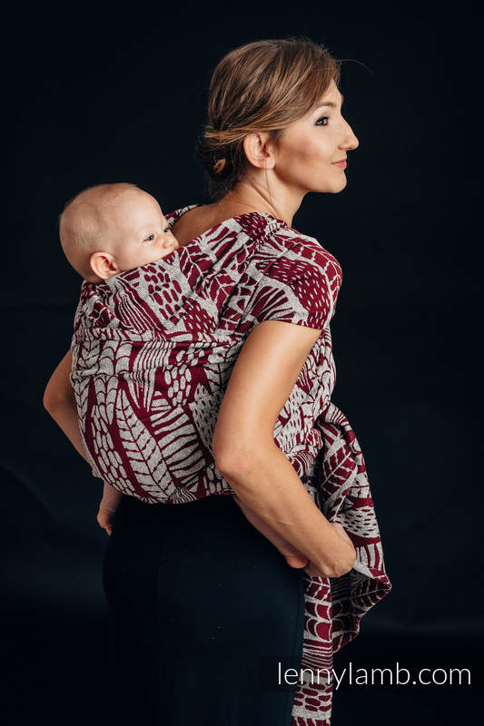 Baby Wrap, Jacquard Weave - 69% cotton, 31% silk - SKETCHES OF NATURE - size XS #babywearing