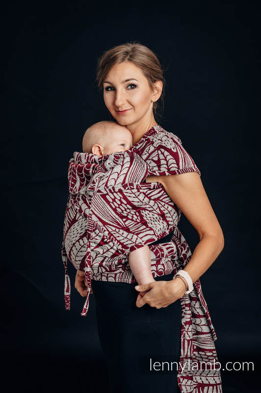 WRAP-TAI carrier Mini with hood/ jacquard weave - 69% cotton, 31% silk -  SKETCHES OF NATURE #babywearing