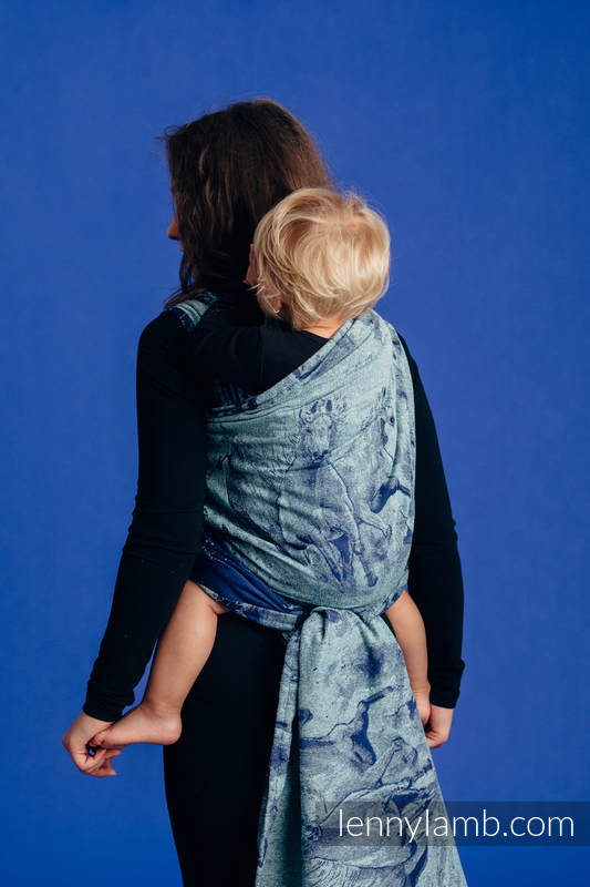 Baby Wrap, Jacquard Weave - 62% cotton, 38% silk - GALLOP - CHASING SERENITY - size S #babywearing