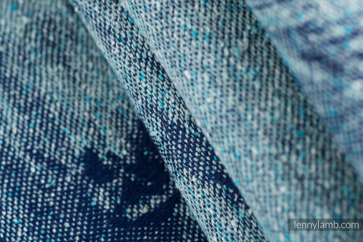 Baby Wrap, Jacquard Weave - 62% cotton, 38% silk - GALLOP - CHASING SERENITY - size M (grade B) #babywearing