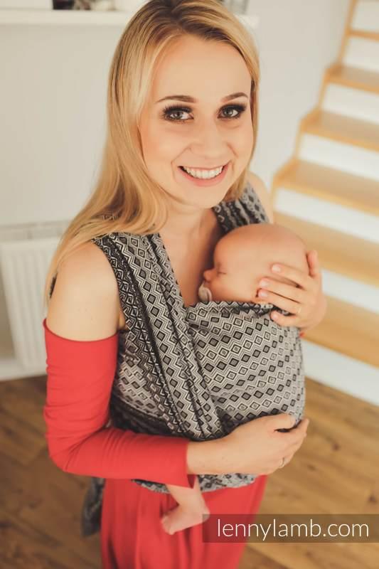 Baby Wrap, Jacquard Weave (100% cotton) - NOVA - Carre ZOSIA - size XS #babywearing