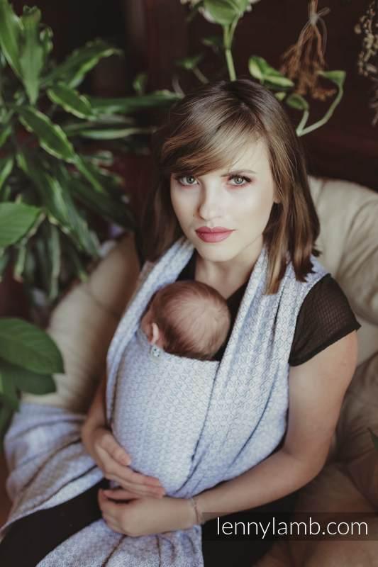 Baby Wrap, Jacquard Weave (100% cotton) - NOVA - LittleLove KUBA - size XS #babywearing