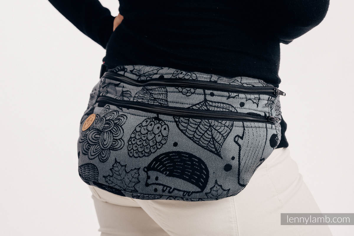 Waist Bag made of woven fabric, size large (100% cotton) - UNDER THE LEAVES - NIGHT VENTURE #babywearing