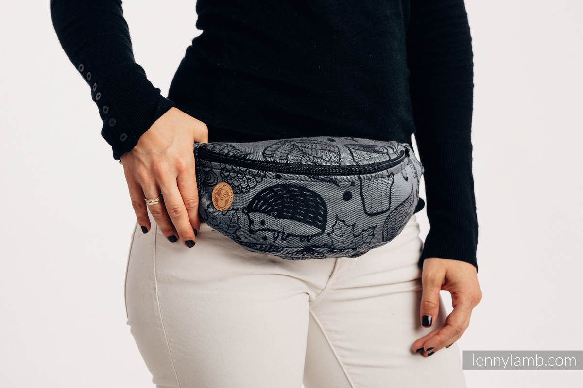 Waist Bag made of woven fabric, (100% cotton) - UNDER THE LEAVES - NIGHT VENTURE #babywearing