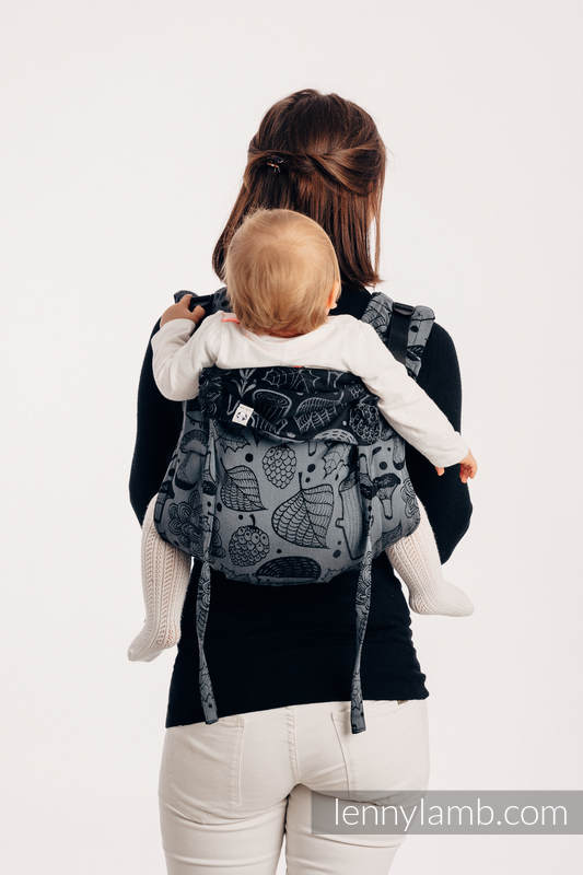 Onbuhimo SAD LennyLamb, talla estándar, jacquard (100% algodón) - UNDER THE LEAVES - NIGHT VENTURE #babywearing