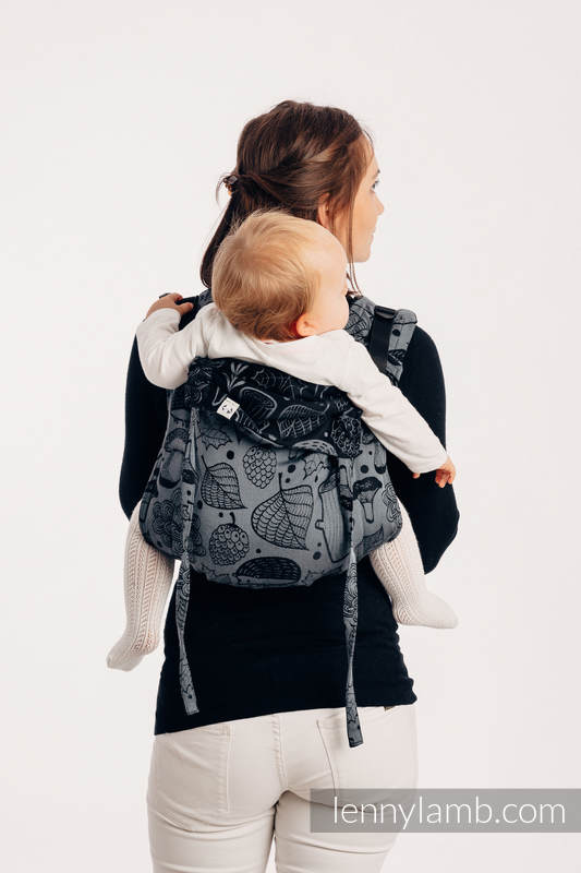 Lenny Buckle Onbuhimo baby carrier, standard size, jacquard weave (100% cotton) - UNDER THE LEAVES - NIGHT VENTURE #babywearing