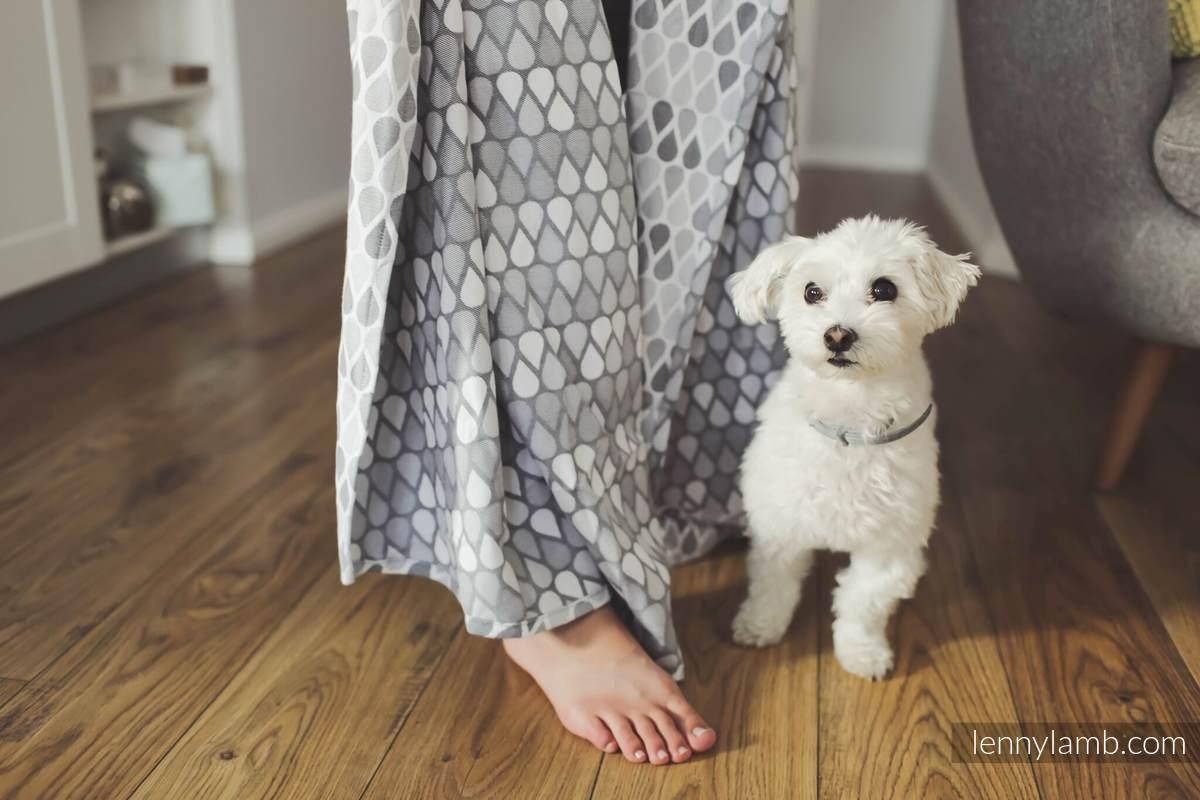 Chusta tkana, splot żakardowy, (100% bawełna) - NOVA - Radosny Czas ANTEK - rozmiar XS #babywearing