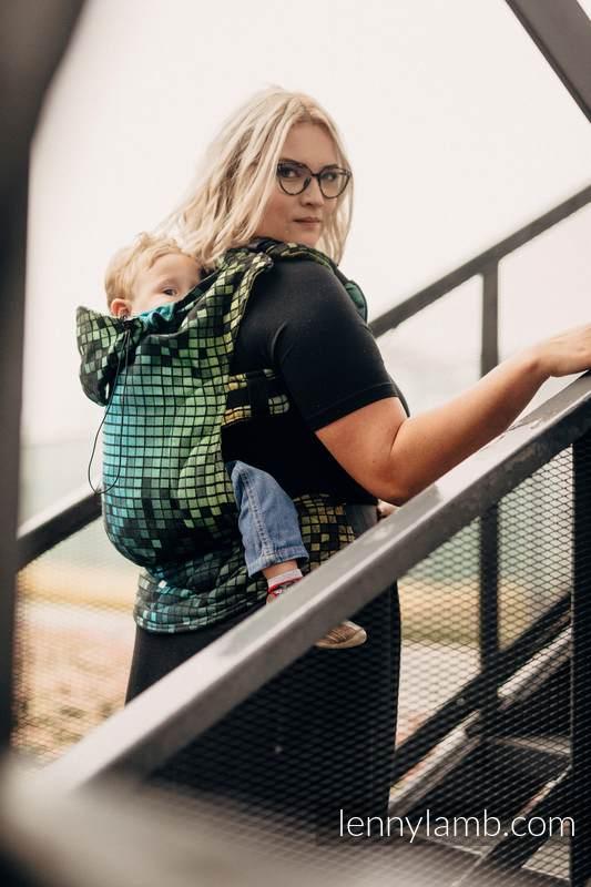 Ergonomic Carrier, Baby Size, jacquard weave 100% cotton - SILESIAN MOSAIC - Second Generation #babywearing