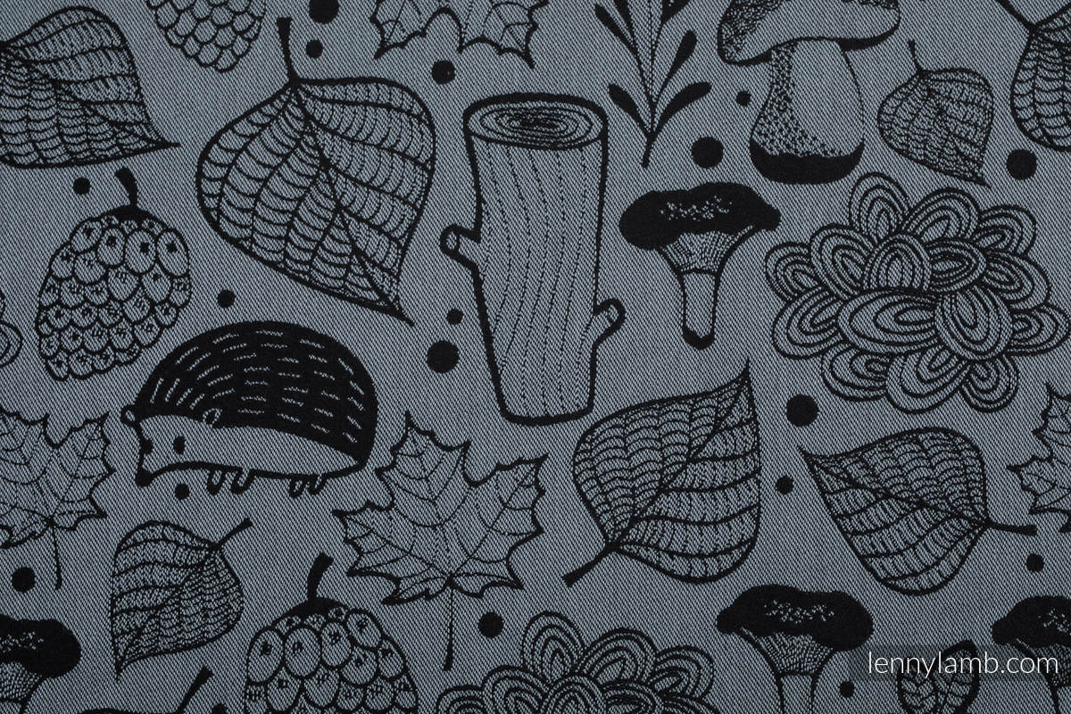 Baby Wrap, Jacquard Weave (100% cotton) - UNDER THE LEAVES - NIGHT VENTURE - size XS #babywearing