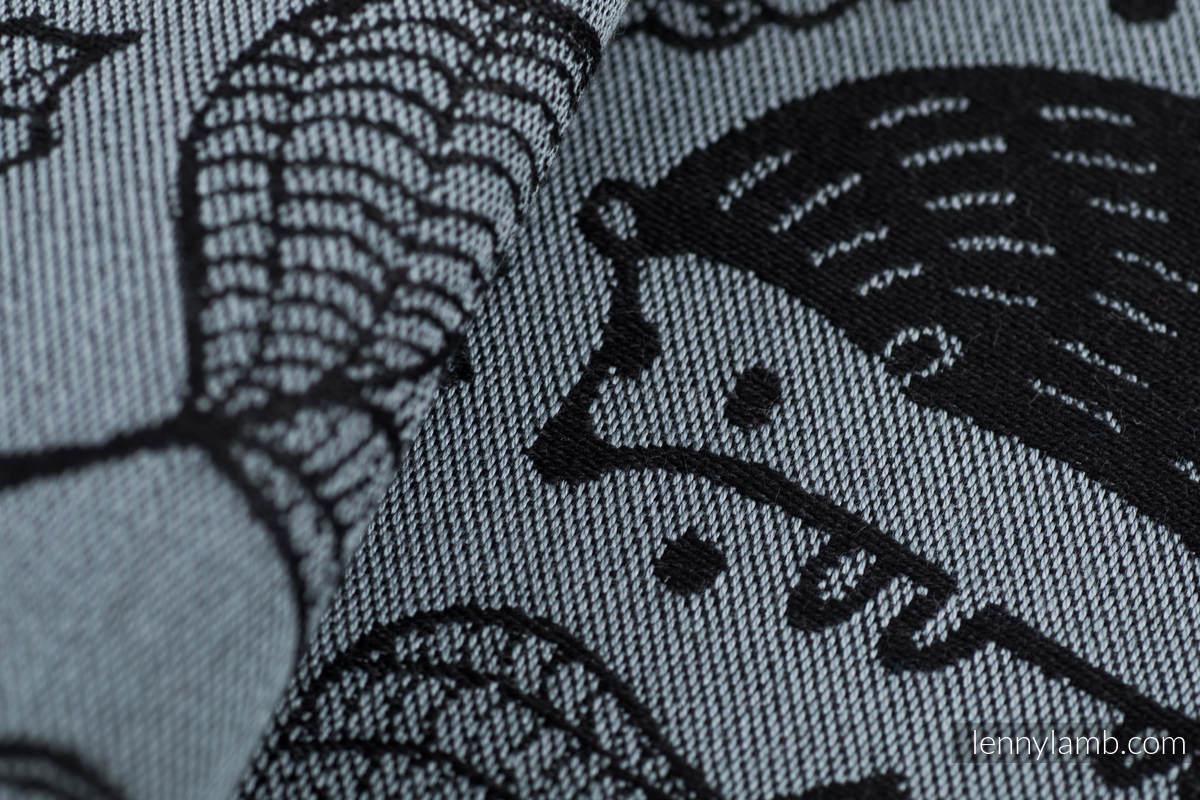 Żakardowa chusta do noszenia dzieci, bawełna - POD LIŚCIEM - NOCNA WYPRAWA  - rozmiar M (drugi gatunek) #babywearing