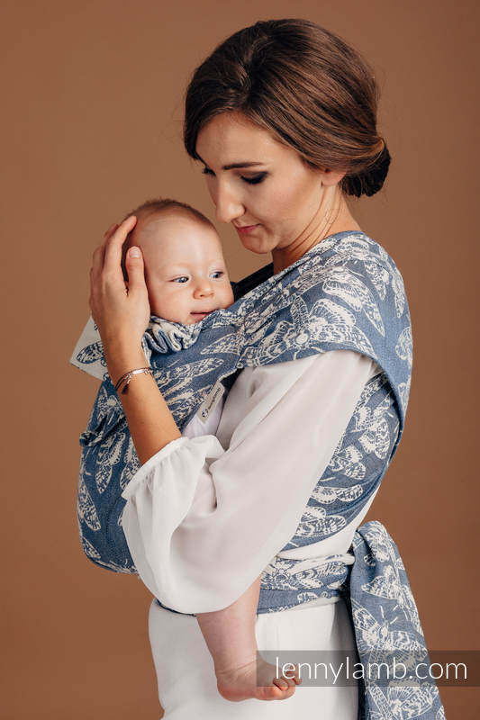 WRAP-TAI carrier Mini with hood/ jacquard twill (53% cotton, 33% linen, 14% tussah silk) - wrap conversion from QUEEN OF THE NIGHT - TAMINO #babywearing