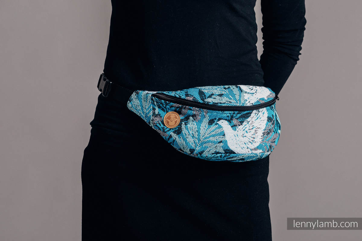 Waist Bag made of woven fabric, (100% cotton) - FLUTTERING DOVES  #babywearing