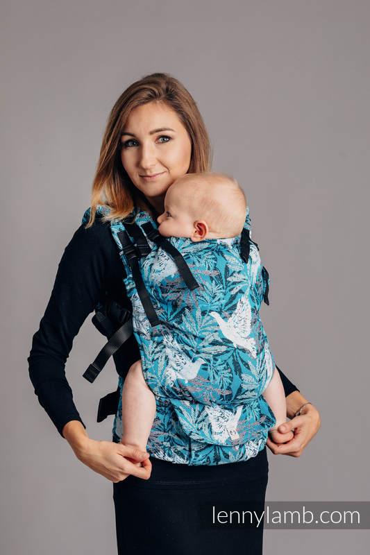 Nosidełko LennyUp z tkaniny żakardowej 100% bawełna , rozmiar standard - TRZEPOCZĄCE GOŁĘBIE #babywearing
