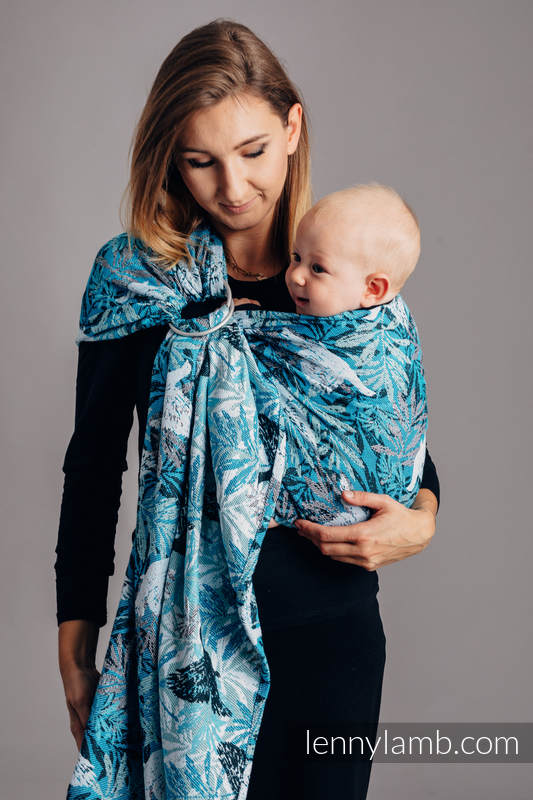 Ringsling, Jacquard Weave (100% cotton) - FLUTTERING DOVES  - standard 1.8m #babywearing