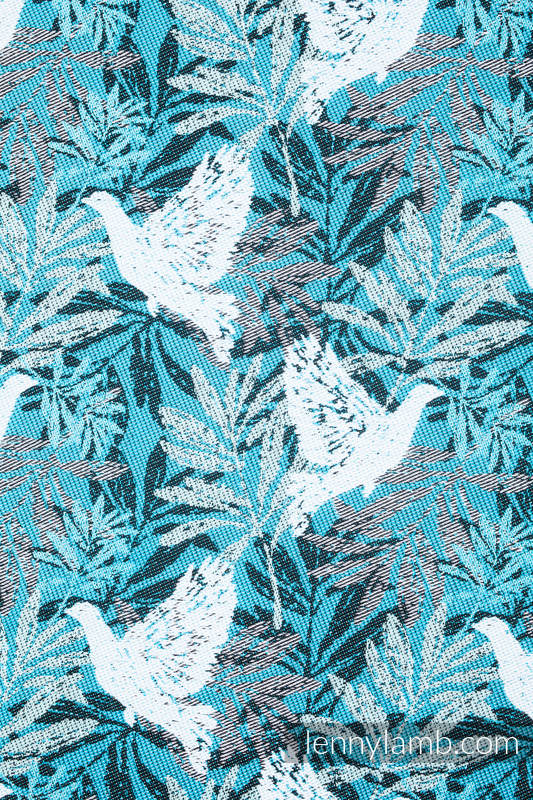 Fular, tejido jacquard (100% algodón) -FLUTTERING DOVES  - talla S #babywearing