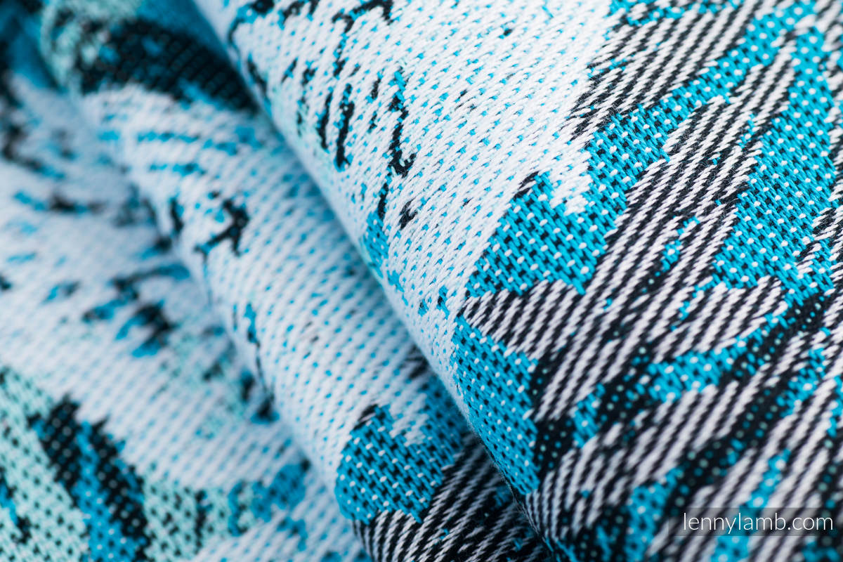 Fular, tejido jacquard (100% algodón) -FLUTTERING DOVES  - talla M #babywearing