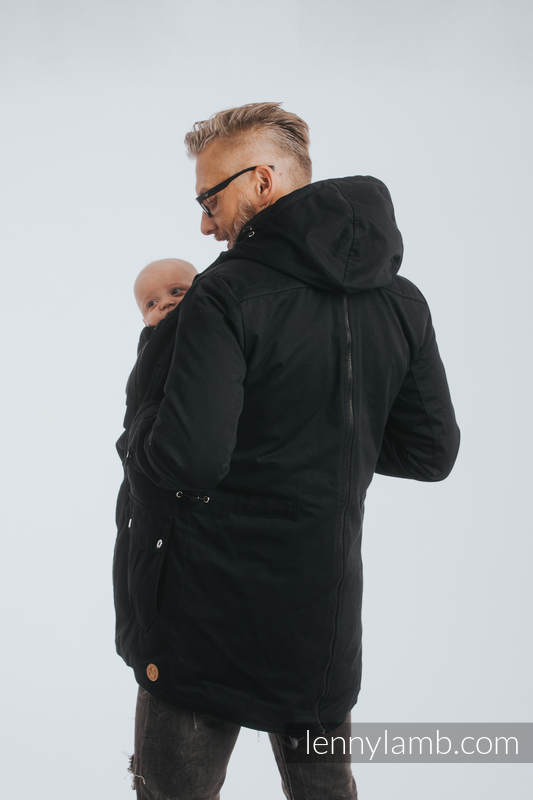 Two-sided Babywearing Parka Coat - size XS - Black - Black #babywearing