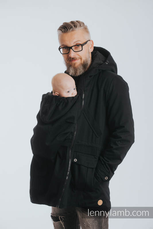 fcae99577a541 Two-sided Babywearing Parka Coat - size 3XL - Black - Black #babywearing