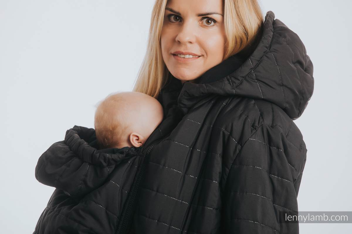 Two-sided Babywearing Parka Coat - size 6XL - Black - Black #babywearing