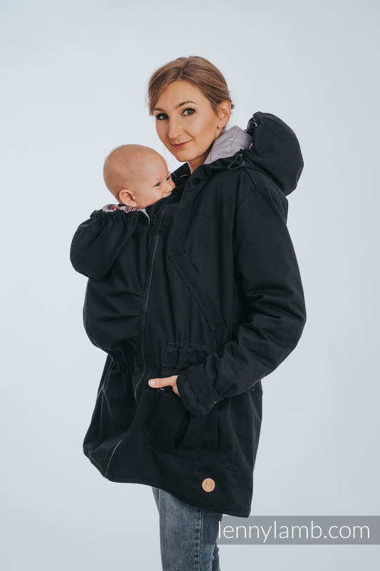 3c7115092f40f Two-sided Babywearing Parka Coat - size 6XL - Black - Grey #babywearing