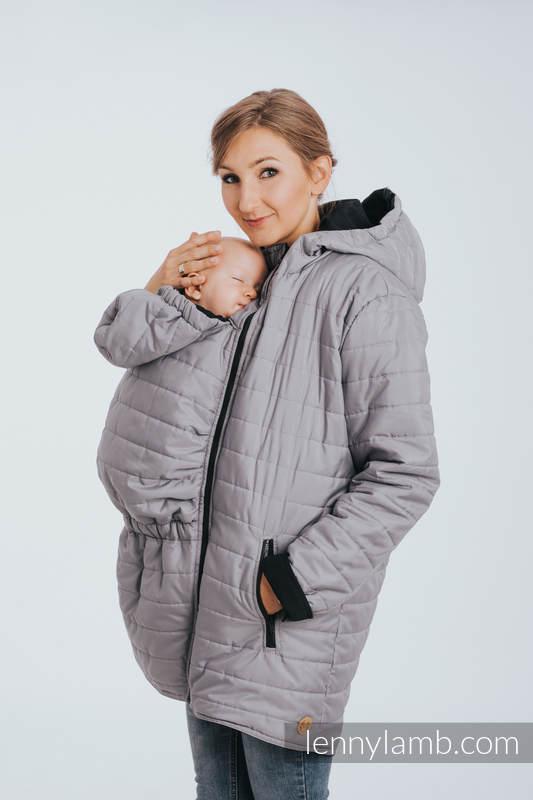Two-sided Babywearing Parka Coat - size 3XL - Black - Grey #babywearing