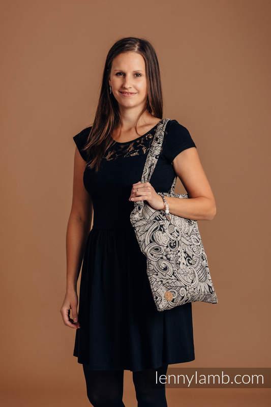 Shopping bag made of wrap fabric (96% cotton, 4% metallised yarn) - HARVEST #babywearing