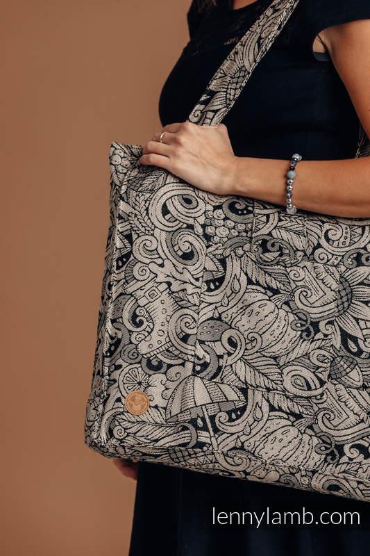 Bolso hecho de tejido de fular (96% algodón, 4% hilo metalizado) - HARVEST - talla estándar 37 cm x 37 cm #babywearing