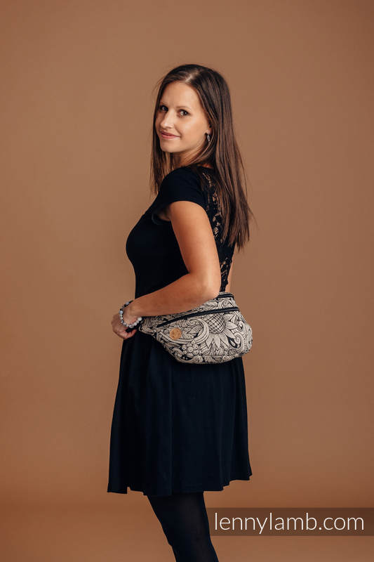 Waist Bag made of woven fabric, size large (96% cotton, 4% metallised yarn) - HARVEST #babywearing