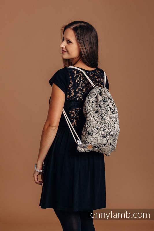Sackpack made of wrap fabric (96% cotton, 4% metallised yarn) - HARVEST - standard size 32cmx43cm #babywearing