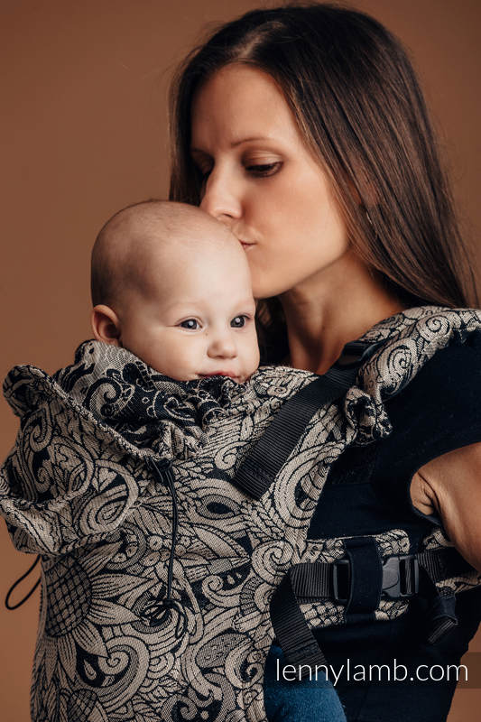 Ergonomic Carrier, Baby Size, jacquard weave, 96% cotton, 4% metallised yarn - HARVEST - Second Generation #babywearing