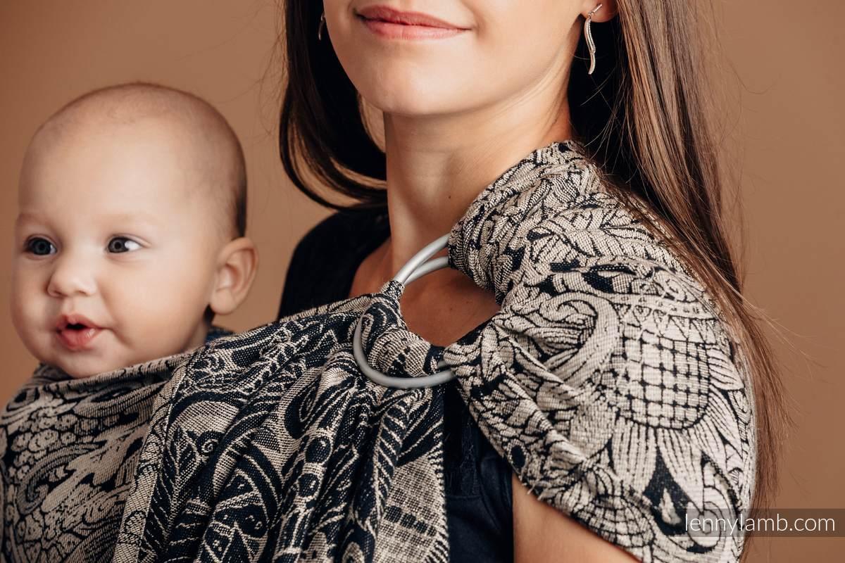 Ringsling, Jacquard Weave (96% cotton, 4% metallised yarn) - HARVEST - standard 1.8m #babywearing