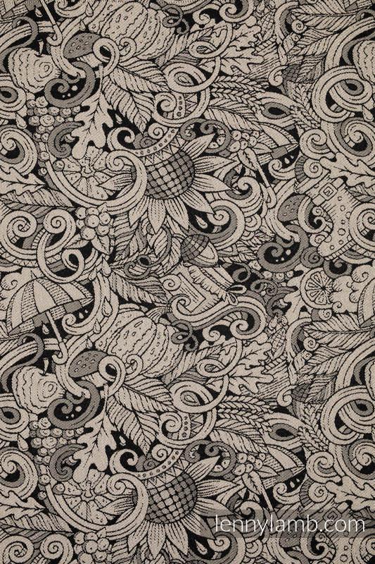 Doll Sling, Jacquard Weave, 96% cotton, 4% metallised yarn - HARVEST #babywearing