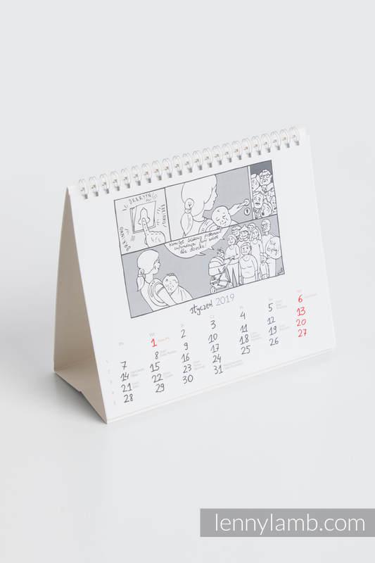 Kalendarz biurkowy spiralowany na rok 2019 #babywearing