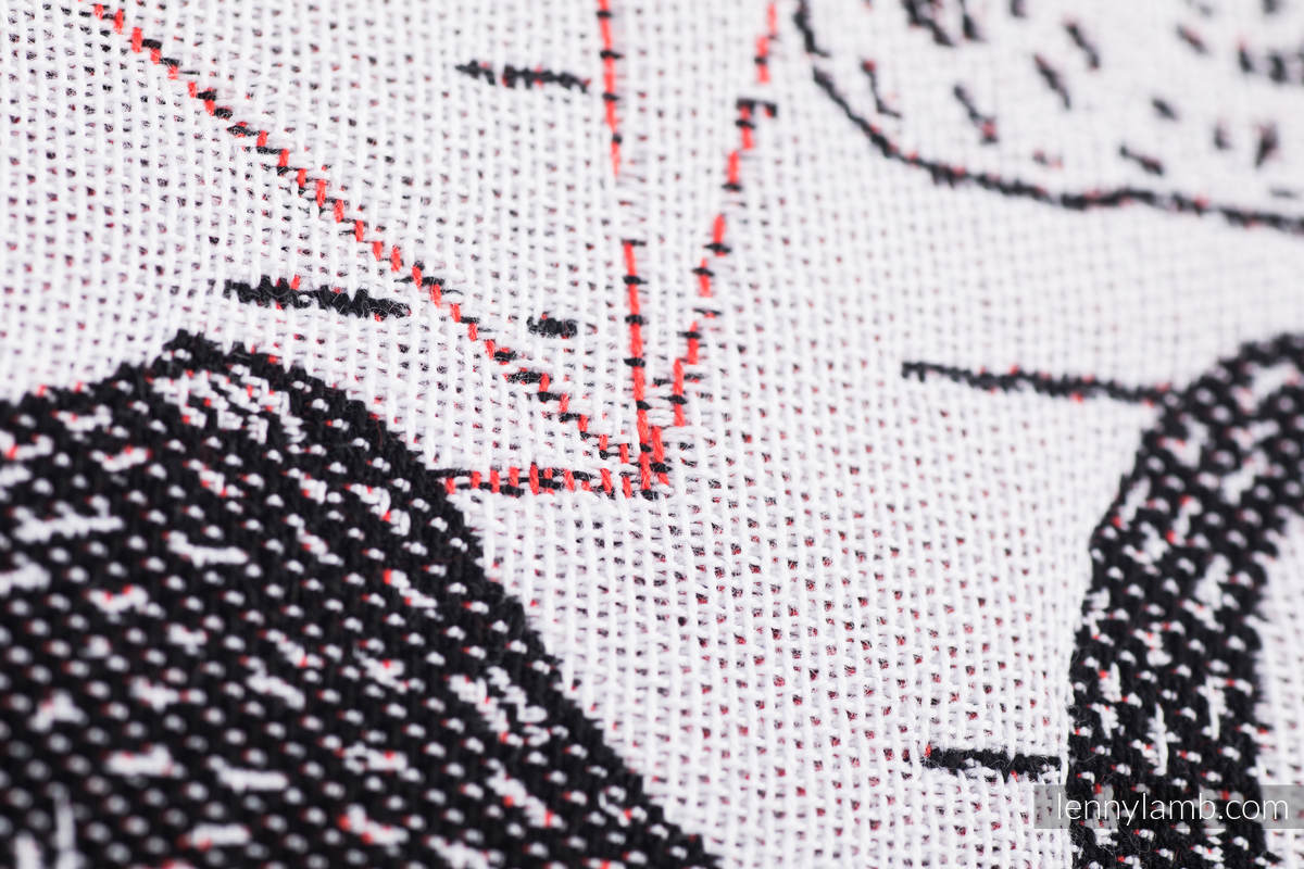 Baby Wrap, Jacquard Weave (100% cotton) - WILD SWANS - size M #babywearing