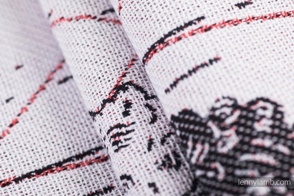 Baby Wrap, Jacquard Weave (100% cotton) - WILD SWANS - size XS #babywearing