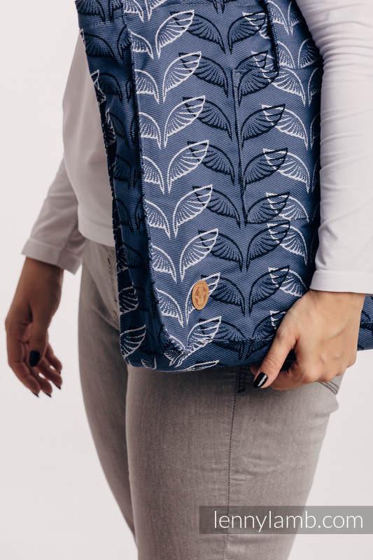 Torba na ramię z materiału chustowego, (100% bawełna) - SKRZYDŁA ANIOŁA - rozmiar uniwersalny 37cm x 37cm  #babywearing
