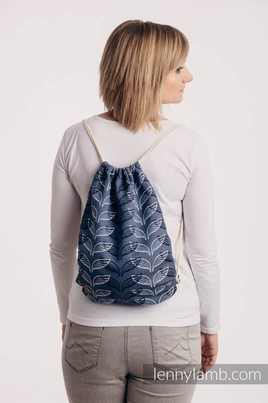 Sackpack made of wrap fabric (100% cotton) - ANGEL WINGS - standard size 32cm x 43cm #babywearing