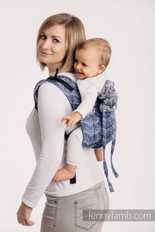 Lenny Buckle Onbuhimo baby carrier, standard size, jacquard weave (100% cotton) - ANGEL WINGS #babywearing