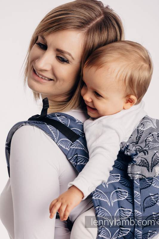 Lenny Buckle Onbuhimo baby carrier, toddler size, jacquard weave (100% cotton) - ANGEL WINGS #babywearing