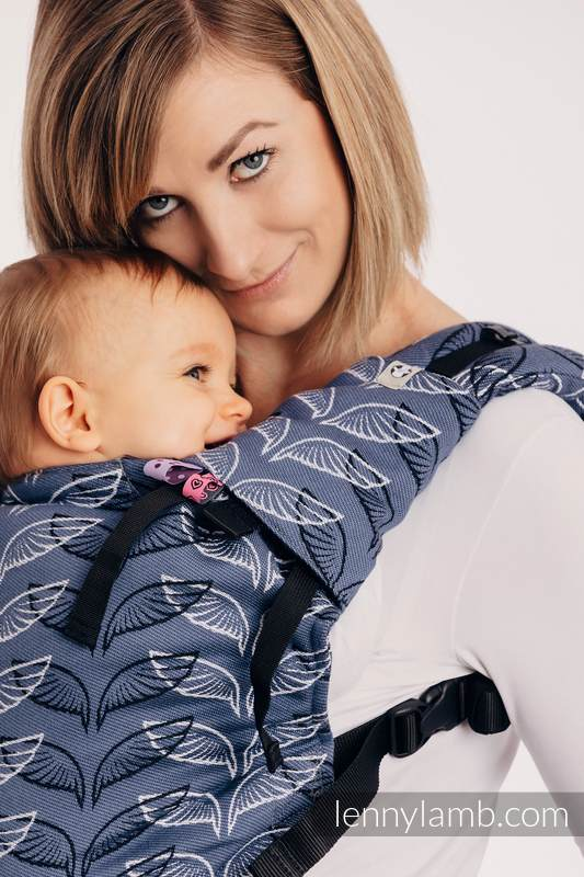 Drool Pads & Reach Straps Set, (60% cotton, 40% polyester) - ANGEL WINGS #babywearing