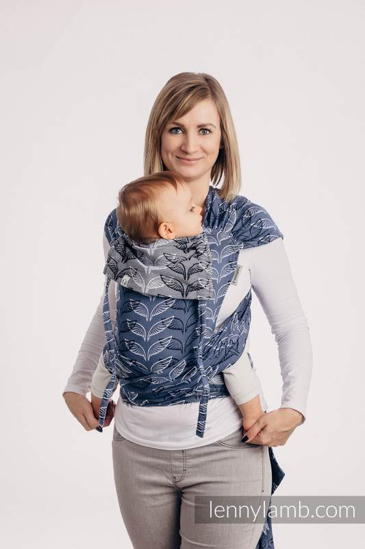 WRAP-TAI carrier Mini with hood/ jacquard twill / 100% cotton - ANGEL WINGS #babywearing