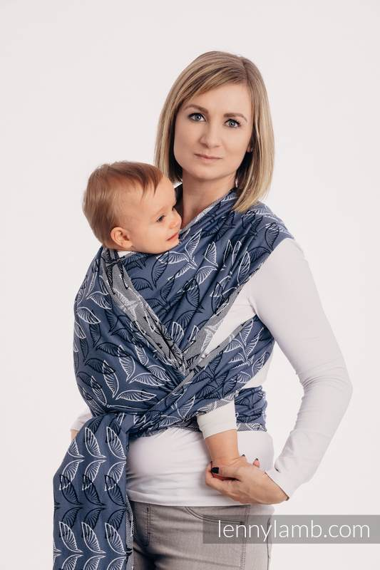 Baby Wrap, Jacquard Weave (100% cotton) - ANGEL WINGS - size M #babywearing