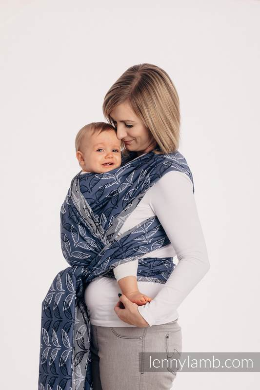 Baby Wrap, Jacquard Weave (100% cotton) - ANGEL WINGS - size XS #babywearing
